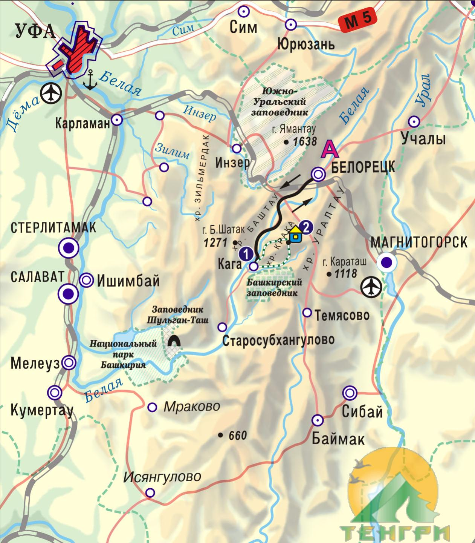 Схема конного маршрута 'Шагом, рысцой, галопом'