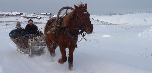 Активный тур 'Уральский серпантин' - комбинированный горнолыжный, конно-санный тур.